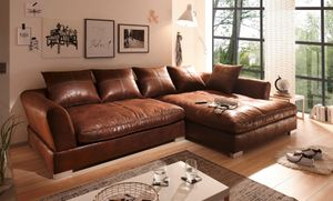 BIG Sofa - L Form - Vintage Braun - Rechts - Modell MAXIMUS