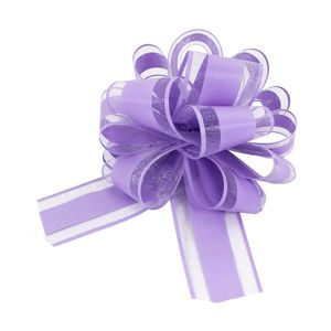 Oblique Unique Geschenkschleife Deko Schleife für Geschenke Tüten Zuckertüte Weihnachten Geschenkdeko - lila
