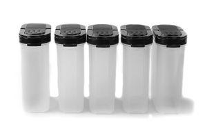 TUPPERWARE Gewürz-Riese 270 ml (5) schwarz Gewürz Behälter Gewürzbehälter groß + SPÜLTUCH