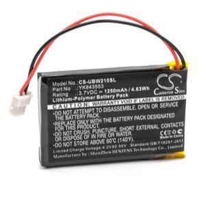 vhbw Li-Polymer Akku 1250mAh (3.7V) passend für Babyphone Babyfone Babytalker Uniden UBW2101C, UBWC21