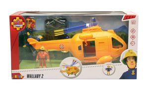 Simba Feuerwehrmann Sam Hubschrauber Wallaby II mit Figur; 109251002
