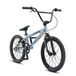 Fahrrad SE Bikes PK Ripper Super Elite 20 Zoll BMX Bike Fahrrad BMX Rad Stunt Old School Dirt 20', Farbe:silber