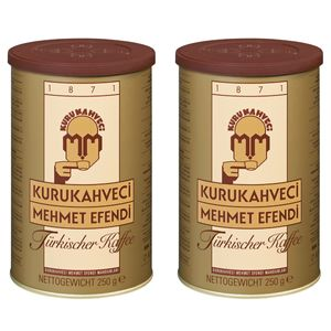 Türkischer Kaffee Kurukahveci Mehmet Efendi Türk Kahvesi Fein Gemahlen 2x 250g