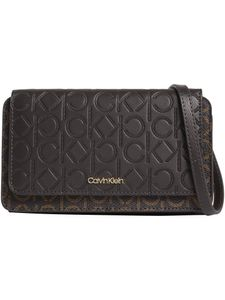 Calvin Klein Tasche Schultertasche Mono Mix Flap Wallet Mini Bag Braun