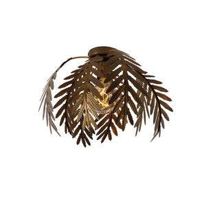 QAZQA - Landhaus | Vintage Vintage Deckenleuchte | Deckenlampe | Lampe | Leuchte Gold | Messing 34 cm - Botanica | Wohnzimmer | Schlafzimmer | Küche - Stahl Organisch - LED geeignet E27