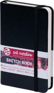 ROYAL TALENS Art Creation Skizzenbuch 90 x 140 mm schwarz 80 Blatt
