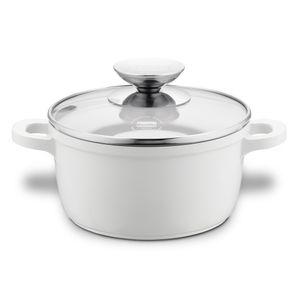 kasserolle Click Induktion 24 cm Aluminium/Glas weiß