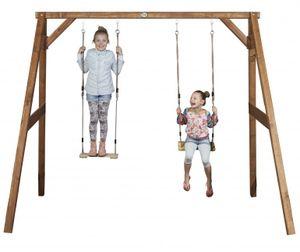 Doppelschaukel für Kinder Holzschaukel Kinderschaukel Gartenschaukel - (3093)