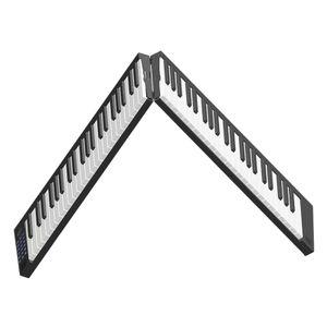 88 Tasten Tastaturklavier Tragbares Digitalpiano mit LCD-Display Eingebaute Lautsprecher Wiederaufladbarer Akku BT-Konnektivitaet