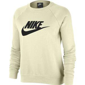 Nike Sportswear Women's Fleece Crew Sweatshirt Sweat COCONUT MILK/BLACK XS