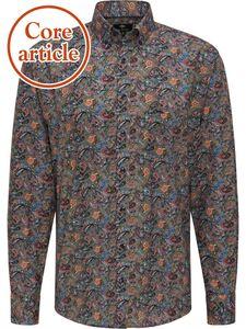 Fynch Hatton Herren Freizeit Hemd Paisley mit Button Down Kragen