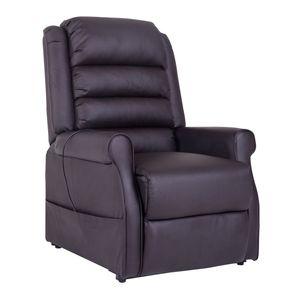 HOMCOM Massagesessel Elektrischer Relaxsessel Fernsehsessel mit Wärmefunktion Liegefunktion Aufstehhilfe PolyurethanBraun 88 x 83 x 110 cm