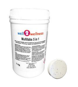well2wellness Chlor Multitabs 5 in 1 200g mit 93% Aktivchlor 1 kg