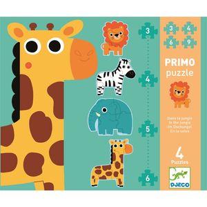 DJECO Erstes Puzzlen: In the jungle 3,4,5 und 6 Teile
