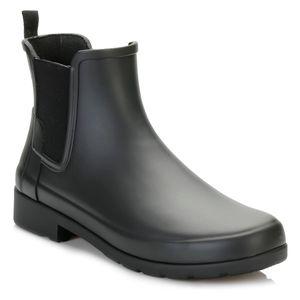 HUNTER Original Refined Damen Gummistiefel Schwarz Schuhe, Größe:39
