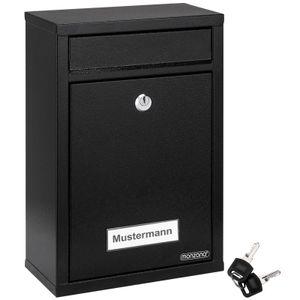 Monzana Briefkasten Wandbriefkasten Briefkastenanlage Postkasten Briefbox Stahl, Farbe:schwarz