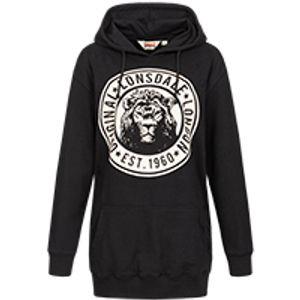 Frauen Kaputzensweatshirt Oversize ELSHAM Black XS Lonsdale