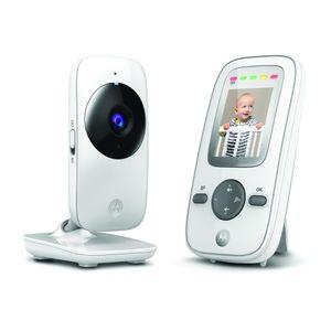 """Motorola MBP481 Babyphone mit Kamera, Nachtsicht und Mikrofon - Baby monitor 2"""" Display - bis 300 m Reichweite - Weiß/Grau"""