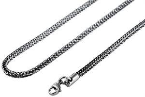 Akzent Edelstahl Uni Schlangenkette, Länge: 55 cm / Stärke: 3 mm