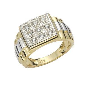 F Ring 925/- Sterling Silber mehrfarbig 018 (57,0) Zirkonia 360270360