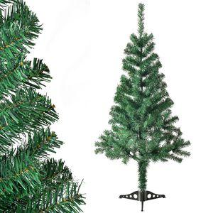 Juskys Weihnachtsbaum 120 cm künstlich mit Ständer – Tannenbaum naturgetreu - Deko Christbaum für Innen - Weihnachtsdeko grün
