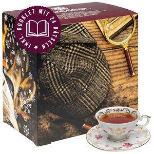 Corasol Premium Rätsel-Krimi & Tee Adventskalender 2021 mit 24 losen Teesorten & spannendem Krimi-Booklet mit 24 kniffligen Rätseln (226 g)
