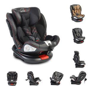 Moni Kindersitz Motion 0-36 kg Gruppe 0/1/2/3 drehbar 165° Neigung Isofix SIPS, Farben:schwarz