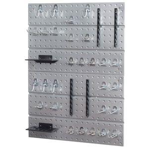 Werkzeuglochwand aus Metall mit Hackenset Lochwand Halterungen Werkstattwand 580 mm x 770 mm