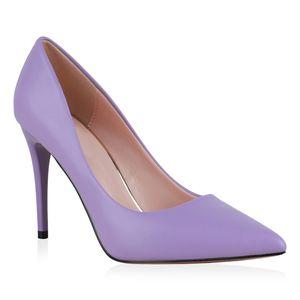 Giralin Damen Spitze Pumps Stiletto Klassische Absatzschuhe High Heels 832056, Farbe: Helllila, Größe: 37