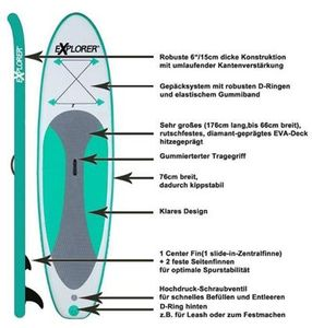 Stand UP Paddling Set / SUP Board / Surfboard / Stehpaddeln