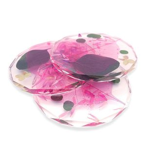 """Bella Resin """"Diamond Love"""" Untersetzer - Ausführung: 2er Set, Farbe: Pink-Exo"""
