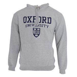 Herren Kapuzenpullover / Hoodie  / Kapuzen-Sweatshirt mit Aufschrift Oxford University F165 (M - 97/102cm) (Grau)