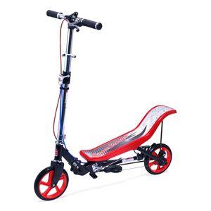Space Scooter Deluxe X590 Rot/Schwarz, bis 120kg belastbar