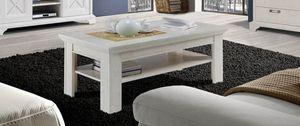 """Couchtisch """"Kashmir"""" Wohnzimmertisch 120x60cm pinie weiß Landhaus-Stil"""
