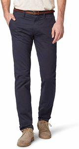 Tom Tailor Travis Herren Chinohose Regular mit Gürtel, Tom Tailor Farben:Outer Space Blue, Jeans Größen:W33/L32