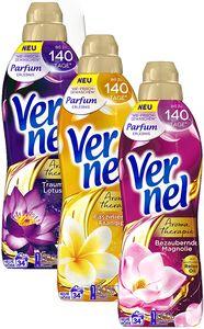 Vernel Weichspüler Set Aroma Therapie 3x850ml Frangipani Magnolie Lotusblüte