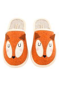 Fuchs Filzpantoffel, Farbe:orange, Größe:38/39