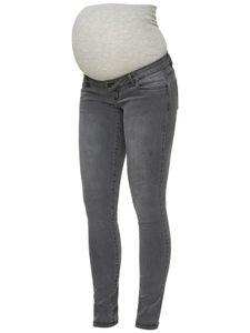 Mamalicious Umstandsjeans Schwangerschaft Umstandsmode Bauch Casual, Farben:Grau, Größe:33W / 34L