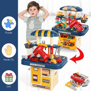 386 Teile Werkzeugkoffer für Kinder Handwerker Spielzeug Set Werkzeug Tool