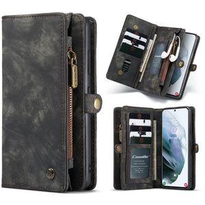 Handy Tasche für Samsung Galaxy S21 Ultra CaseMe Schutzhülle Geldbeutel + Etui Hülle Kunstleder Schwarz