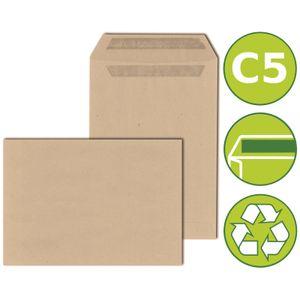 25 x Versandtaschen Briefumschläge DIN C5 selbstklebend 162x229mm Braun