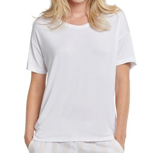 Schiesser Mix & Relax Schlafanzug Shirt kurzarm Lockerer Funktionsschnitt mit etwas längerer Rückenpartie, Leicht überschnittene Schultern, Leichte, softe und elastische Single-Jersey-Qualität