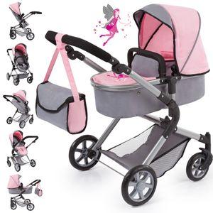 Puppenwagen City Neo grau/rosa