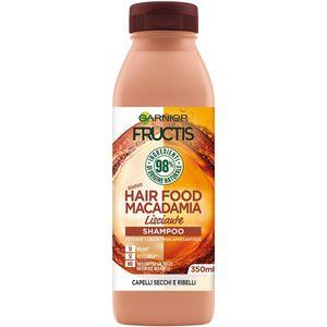 Garnier Fructis Hair Food Macadamia, Unisex, Nicht-professionell, Shampoo, beschädigtes Haar, trockenes Haar, Widerspenstiges Haar, 350 ml, Feuchtigkeitsspendend, Ernährung, Glättend