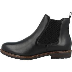 Tamaris Damen Stiefeletten Chelsea Boots Leder 1-25056-25, Größe:38 EU, Farbe:Schwarz