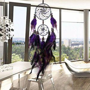 Traumfänger Groß 63cm Indianer Federn Feder Dreamcatcher Wohnzimmer Nachbildung