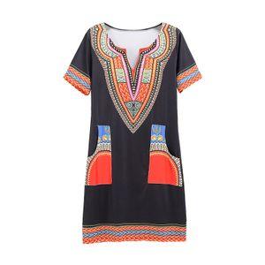 Damen Bankett Kurzarm Kleid Slim Printed Dress,Farbe: Rot,Größe:L