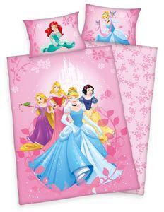 Disney´s Princess Bettwäsche Prinzessin 40x60 + 100x135 cm mit Reißverschluss
