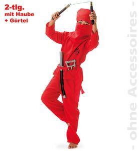Kinder Kostüm Red Ninja (116) zu Karneval, Fasching