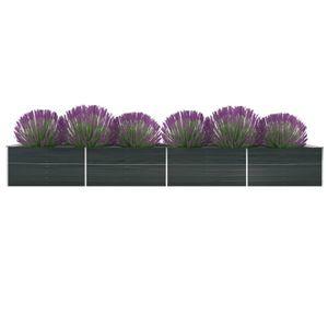 Garten-Hochbeet Verzinkter Stahl 600x80x45 cm Anthrazit